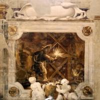 Pier francesco battistelli e aiuti, affreschi con scene dell'orlando furioso e della gerusalemme l. tra telamoni, 1619-28, 17 - Sailko - Gualtieri (RE)