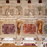 Pier francesco battistelli e aiuti, affreschi con scene dell'orlando furioso e della gerusalemme l. tra telamoni, 1619-28, 06 - Sailko - Gualtieri (RE)