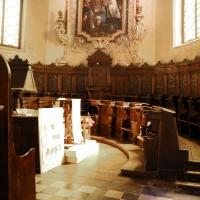 Gualtieri, collegiata della madonna della neve, interno, coro 01 - Sailko - Gualtieri (RE)