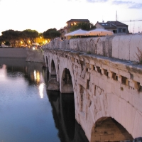 Sera d'estate al ponte di Tiberio - Anna pazzaglia - Rimini (RN)