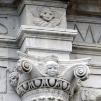 Tempio malatestiano, ri, facciata, capitello 2 - Sailko - Rimini (RN)