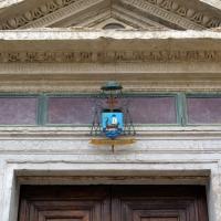 Tempio malatestiano, ri, facciata, portale, timpano - Sailko - Rimini (RN)