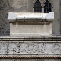 Tempio malatestiano, ri, fianco dx, tomba 04 di roberto valturio - Sailko - Rimini (RN)