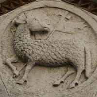 Particolare sopra la porta di ingresso alla chiesa di San paolo - LaraLally19 - Montefiore Conca (RN)