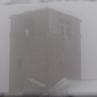 Il campanile nella bufera di neve - Larabraga19 - Montefiore Conca (RN)