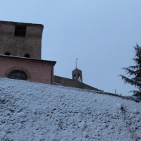 Il campanile, la Rocca e la neve - Larabraga19 - Montefiore Conca (RN)