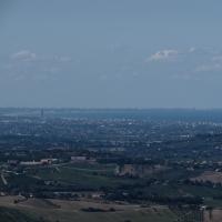 Il Panorama dalla Rocca arriva fino a Ravenna - Larabraga19 - Montefiore Conca (RN)