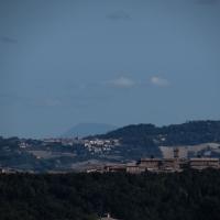 Il panorama dalla Rocca arriva fino al monte Conero - Larabraga19 - Montefiore Conca (RN)