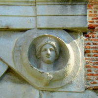 Arco di Augusto - Rimini - facciata SE - particolare 2 - Paperoastro - Rimini (RN)