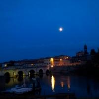 Sul calar della sera al Ponte di Tiberio - Opi1010 - Rimini (RN)