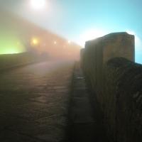 Ponte di Tiberio - giochi di luci e nebbia by night - Maxy.champ - Rimini (RN)
