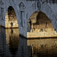 Ponte Tiberio dettaglio - Maria Carla Cuccu - Rimini (RN)