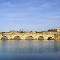 Tramonto sul ponte di Tiberio - Runrobirun - Rimini (RN)