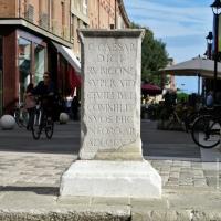 Wikilovesmonuments2016 - piazza tre martiri - suggestum - Emilio Salvatori - Rimini (RN)