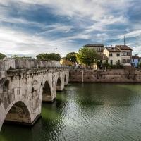 Ponte di Tiberio dalla citta' - Matteo - Rimini (RN)