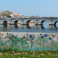 Rimini Ponte di Tiberio über den Marecchia - Feldstein - Rimini (RN)