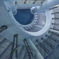 Particolare scalinata , Teatro Galli - Supermabi - Rimini (RN)