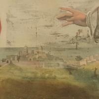 Santi Sergio e Bacco martiri Veduta di Saludecio e Montegridolfo (?) - Marco Musmeci - Saludecio (RN)