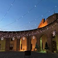 Loggiato e Rocca, periodo natalizio - Daniela Lorenzetti - Mondaino (RN)