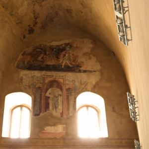 Rocca Malatestiana - Rocca Malatestiana Montefiore Conca - affreschi Jacopo Avanzi foto di: Lara Braga - Montefiore Conca