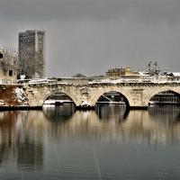 Nevicata sul ponte di Tiberio - GianlucaMoretti - Rimini (RN)
