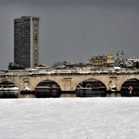 Il ponte di Tiberio innevato - GianlucaMoretti - Rimini (RN)
