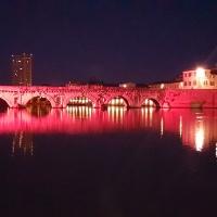 Ponte di Tiberio durante notte rosa - Gambu82 - Rimini (RN)